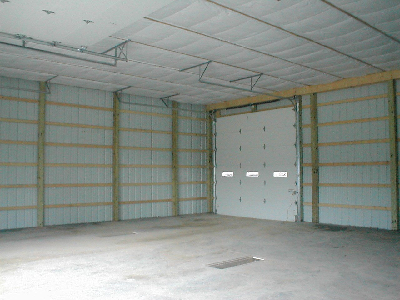 Interior Steel Framed Buildings : Post frame buildings by eddie smith contracting services